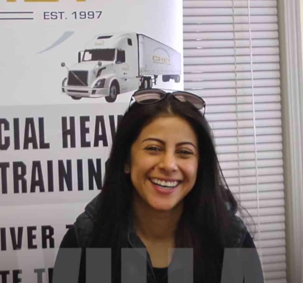 Anna testimonial for IRIS professional truck driver training platform