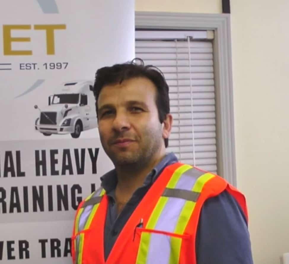 Jad testimonial for IRIS professional truck driver training platform